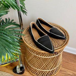 J. Crew Edie Black Leather Loafers 11